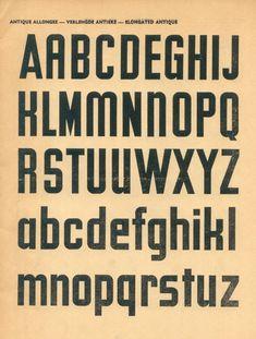 Vintage French type specimen book- 100 Alphabets Publicitaires (1946)