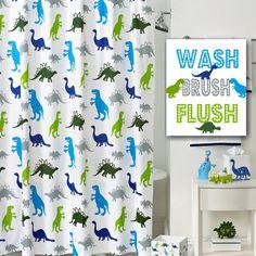 Dinosaur Bathroom Wall Art Dinosaur Kids by SweetBloomsDecor
