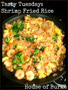 House of Burke: Tasty Tuesday: Cream Cheese Rangoons & Shrimp Fried Rice