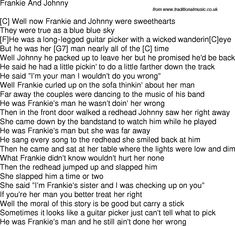 Old time song lyrics with chords for Frankie And Johnny C Easy Ukulele Songs, Guitar Songs, Guitar Chords, Song Lyrics And Chords, Music Lyrics, Song Sung Blue, Frankie And Johnny, Reading Music, Guitar Lessons