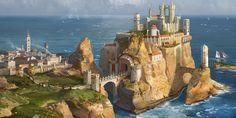 Casterly Rock (House Lannister) by AndrewRyanArt on DeviantArt