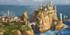 Casterly Rock (House Lannister) by AndrewRyanArt on DeviantArt