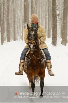 #Horse back riding - stroll in the woods #Mukluks #StegerMukluks  mukluks.com