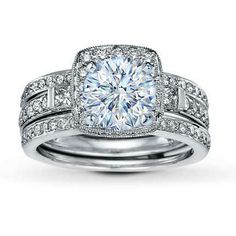 diamond bridal setting 1 ct tw white gold item 999561691700 jared the galleria of jewelry - Wedding Rings Jared