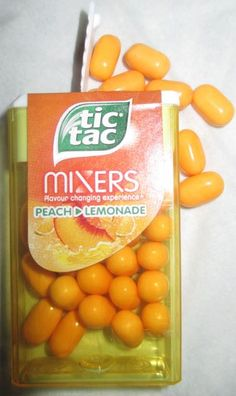 Tic Tac Mixers: Peach to Lemonade and Cherry to Cola (Newsagents) [By Harry Potter Candy, Gum Flavors, Hershey Syrup, Peach Lemonade, Slime Craft, Road Trip Snacks, Hedgehog Art, Weird Food, Favorite Candy
