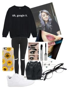 """""""idk, google it."""" by africaouass on Polyvore featuring Topshop, Child Of Wild, NIKE, J.Crew, Retrò, Casetify, women's clothing, women's fashion, women and female"""