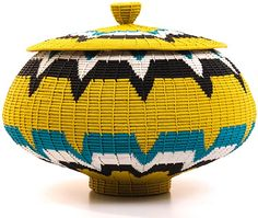 Zulu Wire Baskets - Coil Woven Pot 9 Inches23689