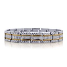 Liquidation Channel | ION Plated Yellow Gold and Stainless Steel Bracelet