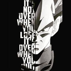 Frase do dia! Não acaba quando você perde, acaba quando você desiste! @geek.mania #dragonball #dragonballz #dragonballsuper #desenho #anime #vegeta #segunda #frasedodia #geek #geekmania