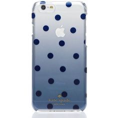 Kate Spade Glitter Dot Clear Ombre Iphone 6 Case ($40) ❤ liked on Polyvore featuring accessories, tech accessories, phone cases and kate spade