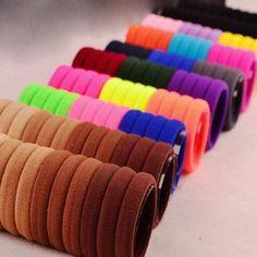 50 Pcs Hair Ornaments Mix Colors Rubber Scrunchie Elastic Headbands / Hair Ties /  Horsetail Holders