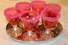 Sparkly sugared glasses for girlie drinks
