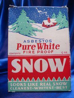 asbestos snow - fire proof