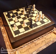 Chess Cake, Board Game Themes, Sugar Bread, 32 Birthday, Wine Cheese, Fancy Cakes, No Bake Cake, Amazing Cakes, Food Art