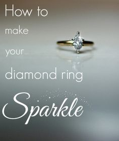 Is your once sparkling wedding ring looking dull? Simply cleaning the diamonds can help it feel brand new again! Here are some EASY ways to make those diamonds shine. #weddingrings #diamonds #cleaningtips