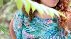 Zwiewna bluzka w palmy z falbanami (szycie szyfonu kilka porad)
