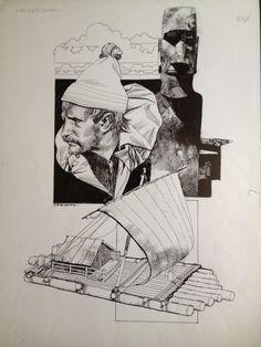 Thor Heyerdhal-Sergio Toppi Comic Art