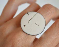 CERAMIC BEADS_INSP COLECCION_Ceramic ring. Ceramic jewelry