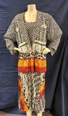Vintage Dorothy Schoelen Platinum 3 Pc Layered Top Jacket Skirt Set - Size Large