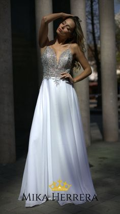 You will love the embroidery and the structured bodice that will make you look stunning no matter what. Angel Dress, I Dress, Top Wedding Dresses, Formal Dresses, You Look Stunning, Different Shapes, Bodice, Silhouette, London