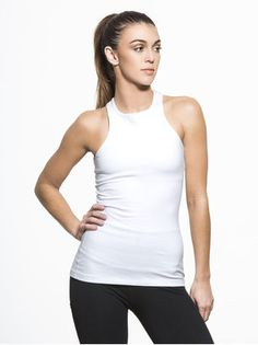 Under Lock And Keyhole Tank Tops in White by Beyond Yoga from Ballet Barre Workout, Long Tank Tops, Muscle Tank Tops, Fashion Details, High Fashion, Basic Tank Top, Tank Man, Active Wear, Mens Tops