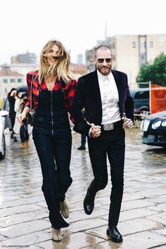 MFW-Milan_Fashion_Week-Spring_Summer_2016-Street_Style-Say_Cheese-Gucci-Denim_Jumpsuite-Veronika_Heilbrunner-Justin_Oshea-