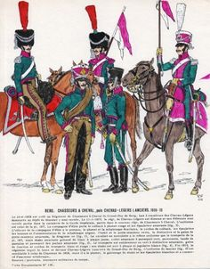 Granducato di Berg - Chasseur a Cheval & Lancers 1808 German Uniforms, War Of 1812, French Revolution, Napoleonic Wars, Army, Military, History, Reno, Miniatures
