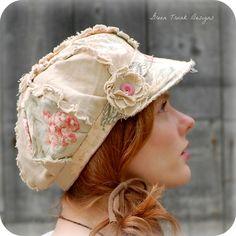 Shabby newsboy hat...♥