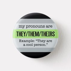 They/Them Pronouns Agender Flag Button #lgbt #accessories