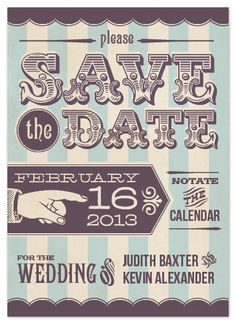 Save the Date Cards - Spun Sugar