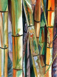 Bambu en arte oriental