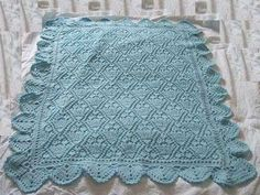 schemi maglia per copertine - Copertina per neonati azzurra