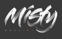 Plenty of misty mornings here at the moment. Brush Type, Mornings, Hand Lettering, In This Moment, Logos, Art, Calligraphy, Art Background, Acre