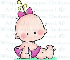 Bella - Baby Images - Baby - Rubber Stamps - Shop ~ I have used this stamp many times! Dibujos Baby Shower, Baby Shower Clipart, Cartoon Drawings, Cute Drawings, Baby Painting, Baby Clip Art, Cute Clipart, Girl Clipart, Baby Images