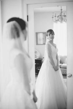 Blush and White Historic Church Wedding   Smithfield, Virginia   Bridal portrait