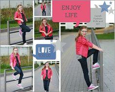 CaroS Fashion FUN and DIY: OOTD - Enjoy Life - Ich liebe meine neue Bikerjack...