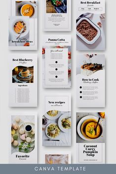 Instagram Collage, Instagram Grid, Instagram Design, Food Graphic Design, Menu Design, Food Design, Recipe Book Design, Cookbook Design, Food Magazine Layout