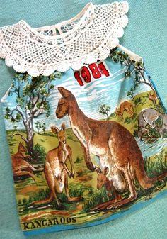 tea towel and doily << nana is a crafting legend!