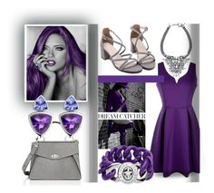 """Some People Dream In Black And White - She Dreams In Purple"" by sharee64 ❤ liked on Polyvore featuring Proenza Schouler and Marc by Marc Jacobs"