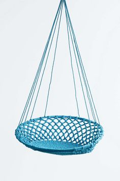 Hanging Basket Swing Chair In Blue