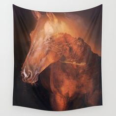 Horse on a Forest Backdrop Wall Tapestry by dturnerart | Society6 Colorful Tapestry, Society 6 Tapestry, Wall Tapestry, Backdrops, Scene, Horses, Backgrounds, Horse