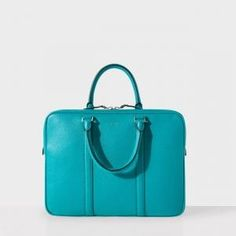 Paul Smith Men's Teal Grained Leather Slim Business Folio