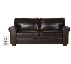 Buy Heart of House Salisbury Large Leather Sofa - Chocolate at Argos.co.uk, visit Argos.co.uk to shop online for Sofas, Sofas, armchairs and chairs, Home and garden