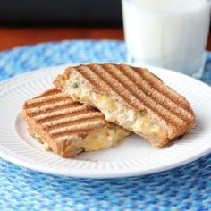 Tuna and Cheddar Panini Melt - This is definitely NOT your average tuna sandwich!