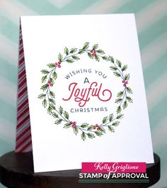 Notable Nest: Five Ways to Use Merry and Bright Boughs - SOA Candy Cane Lane Collection Blog Hop  The Candy Cane Lane Stamp of Approval Collection makes holiday card making easy!   www.cpstampofapproval.com