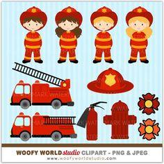Fire Engine Clipart Image: Cartoon Firetruck   Creating Printables ...
