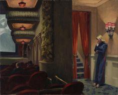 """""""La verdad rara vez es pura, y nunca simple"""".   —Oscar Wilde   New York Movie, 1939, Edward Hopper"""