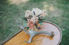 antler decor. West Shore Cafe Lake Tahoe Wedding from Rachelle Derouin Photography and @archiverentals