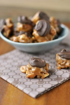 Chocolate Caramel Candy clusters