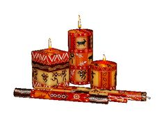 hand-painted candles & ceramics from South Africa | www.nobunto.com